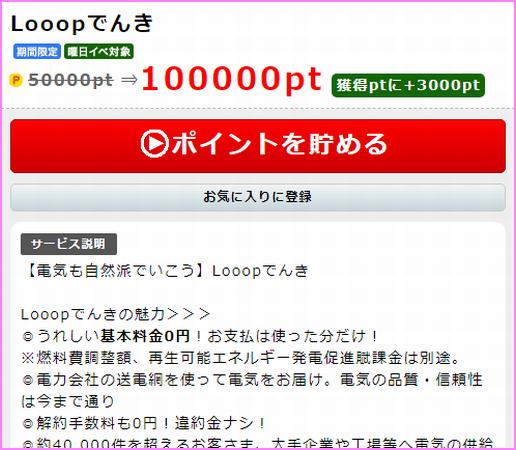 1万超え案件:電気のりかえで10,000円♪ポイントインカムxLooopでんき